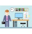Businessman standing in office vector image