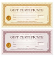 Certificate gift coupon template vector image