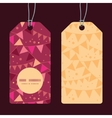 christmas decorations flags vertical round frame vector image