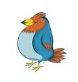 Colourful big bird vector image