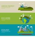 Ecology Flat Banner Set vector image