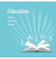 Education background with text vector image