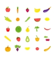 Icons set vegetarian products vector image