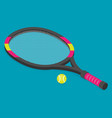 isometric set of tennis racket and tennis ball vector image