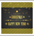 Merry Christmas and Happy New Year greeting card 4 vector image