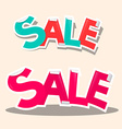 Sale Titles - Retro Stickers vector image