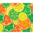 Seamless pattern of oranges lemons and limes vector image
