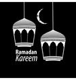 simple white Ramadan kareem vector image