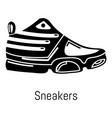 sneakers icon simple black style vector image