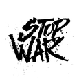 Stop war Cola pen calligraphy font vector image
