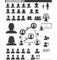 Set web icons people vector image