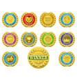 winners medals vector image