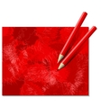 Two Red Pencils vector image