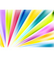 bright abstract multicolored beams background vector image