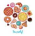 sketch bakery round vector image