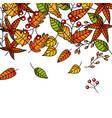 autumn seamless pattern with leaves branches and vector image