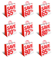 SALE SAVE Shopping Bags Carrier Bags Symbols vector image