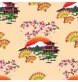 Japanese decorative seamless pattern with sakura vector image vector image