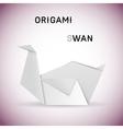 Swan origami vector image