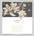 Card template with floral vector image vector image