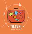 logo Orange suitcase for travel vector image
