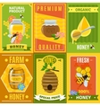 Honey Poster Set vector image