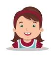 happy girl design vector image