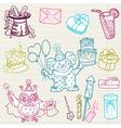 doodle birthday 1 vector image vector image
