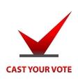 Cast your vote Symbols vector image