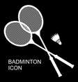 badminton black vector image