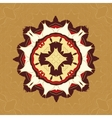 Brown and Yellow Tiled Fabrik Ornament Gorgeous vector image