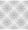 Geometric flower seamless pattern black white vector image