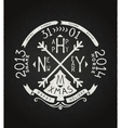 Happy new year retro chalkboard lettering vector image