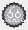 justice concept vector image