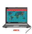 laptop with forex trade graph chart vector image
