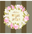 Marriage wreath vector image