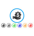 payment options service hand rounded icon vector image