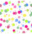 seamless pattern with bright ink blots on white vector image