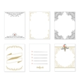 Set of 6 creative journaling cards vector image