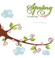 Spring flowering branch background vector image