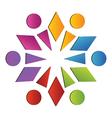 Teamwork diversity logo vector image