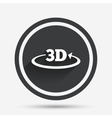 3D sign icon 3D New technology symbol vector image