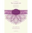 Beautiful purple invitation card vector image vector image