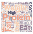 Why High Protein Diets Won t Help You Lose Weight vector image