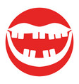 mouth with bad teeth vector image