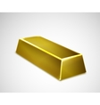 Gold bar isolated on white background vector image vector image