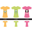 t-shirt graphics vector image vector image