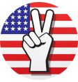 peace sign on US flag vector image vector image