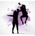 jumping boy and girl vector image