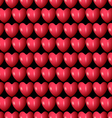 3d red hearts seamless pattern vector image